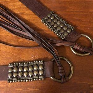 BOHO Leather Fringe Tassel Belt X-Large XL